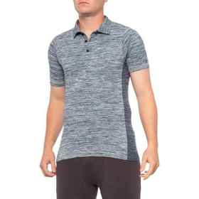 Blanc Noir Seamless Polo Shirt - Short Sleeve (For