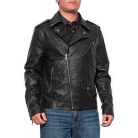 Noize Turbo Jacket - Faux Leather (For Men) in Bla