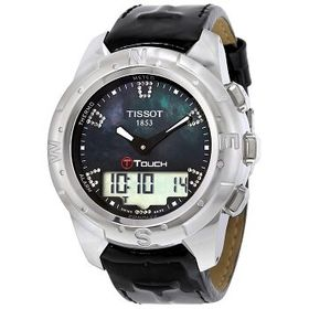 TissotT-Touch II Black Mother of Pearl Unisex Watc