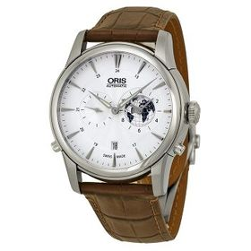 OrisArtelier GMT Automatic Silver White Dial Brown