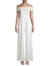 Calvin Klein Off-the-Shoulder Wide-Leg Jumpsuit CR