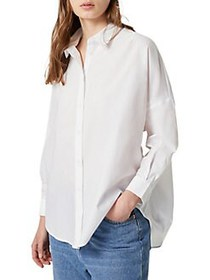 French Connection Button-Front Long-Sleeve Shirt L