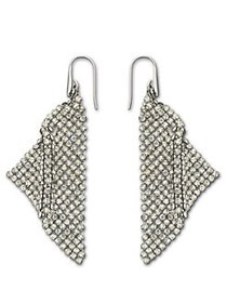 Swarovski Crystallized Fit Triangle Pendant Earrin