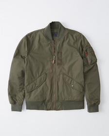 Military Bomber Jacket, OLIVE GREEN