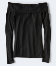 Aeropostale Long Sleeve Seriously Soft Off-The-Sho