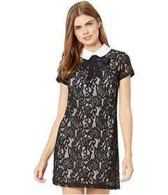 Betsey Johnson Lace Shift Dress with Contrast Lini