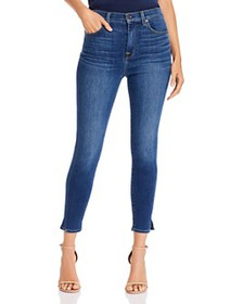 7 For All Mankind - Ankle Slit-Hem Skinny Jeans in