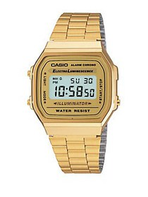 Casio Vintage Foldover-Clasp Chronograph GOLD