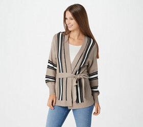 Laurie Felt Wrap Sweater with Long-Sleeves - A3670