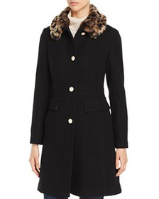 kate spade new york - Cheetah-Print Faux Fur Colla