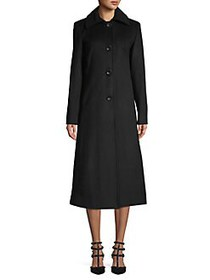 JONES NEW YORK Maxi Wool-Blend Coat BLACK