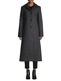 JONES NEW YORK Textured Wool-Blend Coat CHARCOAL