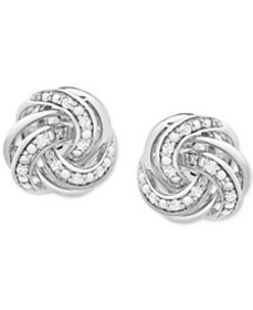 Diamond Love Knot Stud Earrings (1/10 ct. t.w.) in