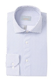Perry Ellis Open Oval Print Slim Fit Dress Shirt