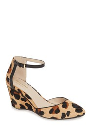 Cole Haan Lara Ankle Strap Genuine Calf Hair Pump