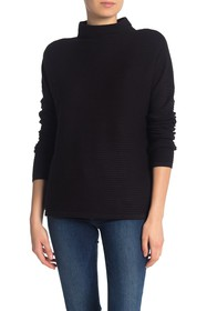 French Connection Mock Neck Ribbed Sweater