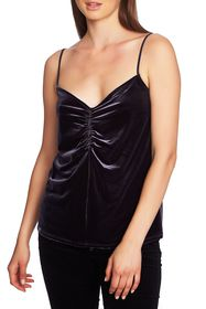 1.State Ruched Front Velvet Camisole