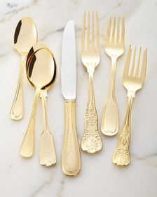 Towle Silversmiths 90-Piece Gold-Plated Hotel Flat