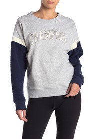 Champion Heritage Faux Shearling Sleeve Crew Neck