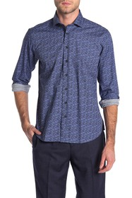 Toscano Printed Dot Regular Fit Shirt