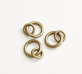 Pottery Barn Morris Curtain Round Rings - Brass