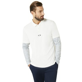 Oakley Polo Shirt LS Printed Sleeve - Arctic White