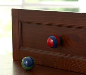 Pottery Barn Rugby Stripe Knobs