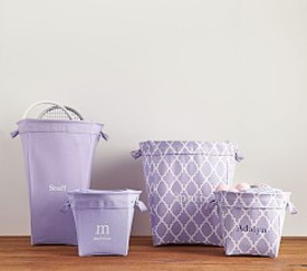 Pottery Barn Lavender Canvas Storage