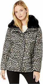 MICHAEL Michael Kors Print Jacket with Faux Fur Co