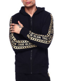 True Religion hoodie with chain detail