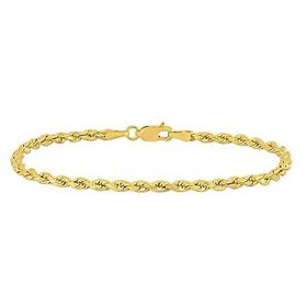 AmourFashion Rope Chain Bracelet in 10k Yellow Gol