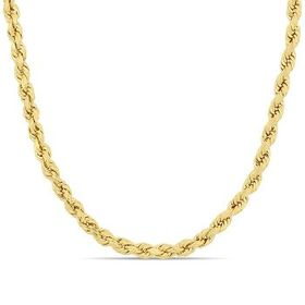 AmourFashion Rope Chain Necklace in 14k Yellow Gol