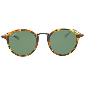 Ray BanRound Fleck Green Classic G-15 Sunglasses R