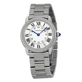 CartierRondo Solo Small Silver Dial Ladies Watch