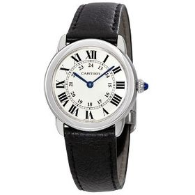 CartierRonde Solo Silvered Light Opaline Dial Ladi
