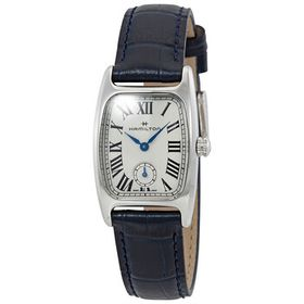 HamiltonBoulton Silver-White Dial Blue Leather Lad