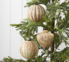 Pottery Barn Oxidized Gold Ornament Collection