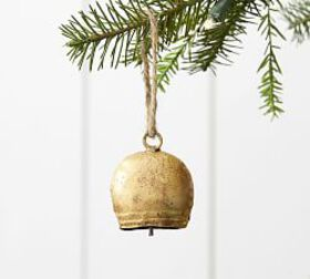 Pottery Barn Vintage Gold Bell Ornament