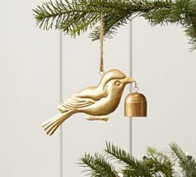 Pottery Barn Bird with Bells Ornament