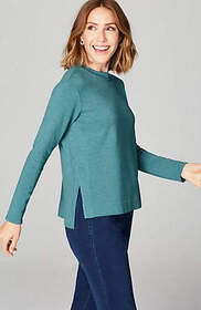 Pure Jill Serenity Stepped-Hem Top