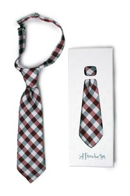 Frenchie Mini Couture Gingham Tie