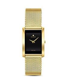 Movado - La Nouvelle Gold-Tone Mesh Watch, 21mm x