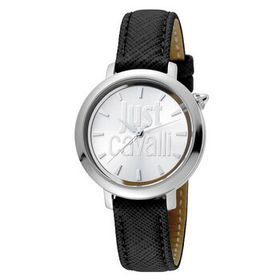 Just CavalliLogo Silver Dial Ladies Watch