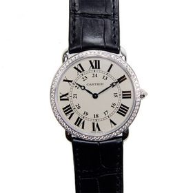 CartierRonde Louis Large Model Diamond Bezel Silve