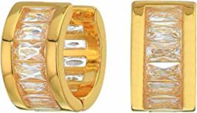 Vince Camuto Baguette Huggie Earrings