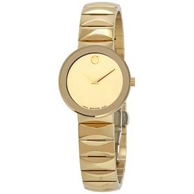 MovadoSapphire Yellow gold-plated Mirror Dial Ladi