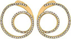 Vince Camuto Twisty Wrap Around Earrings with Pave