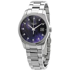 LonginesConquest Classic Black Mother of Pearl Dia