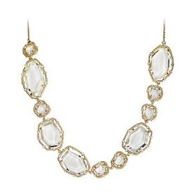 RiccovaSliced Glass 14K Gold Plated Clear Sliced S