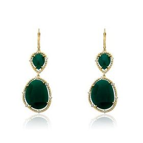 RiccovaGem Stone 14K Gold Plated Cubic Zirconia Tr